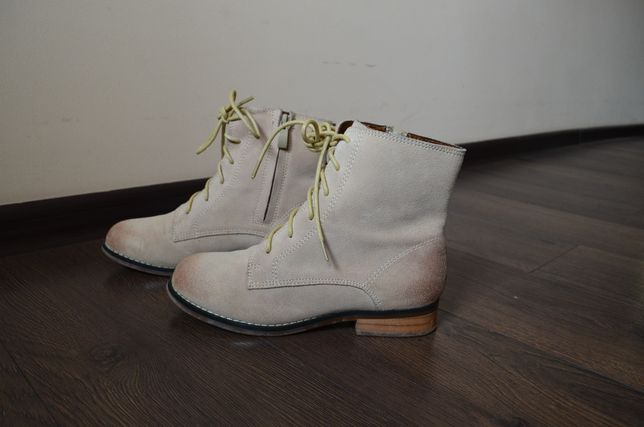 Сапожки ,ботинки на шнуровке,натуральная замша кожа в стиле Dr.Martens