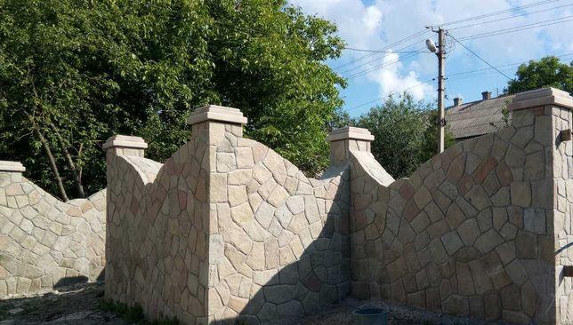 Забори з цегли каміни мангали сходи печі басейни майстри по каменю