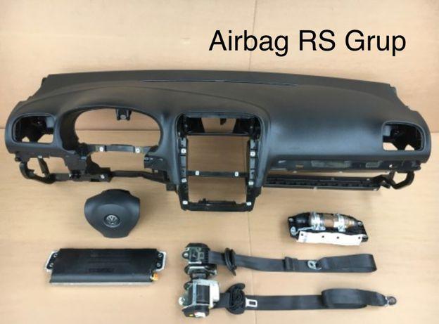 vw golf 6 tablier painel do bordo airbags cintos
