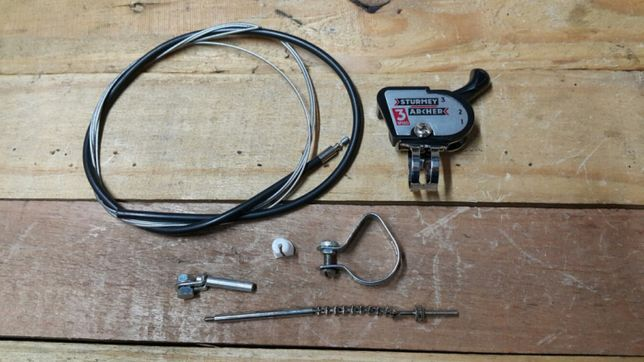Conjunto de mud. sturmey 3V para bicicleta pasteleira