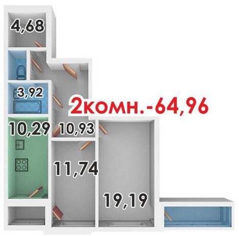 2-х комнатная квартира с гардеробной в новострое в центре Таврического