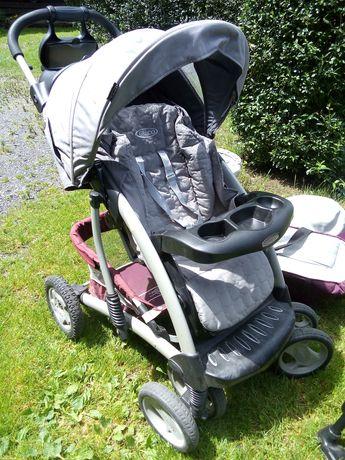 Wózek Graco spacerówka, gondola, nosidełko do auta