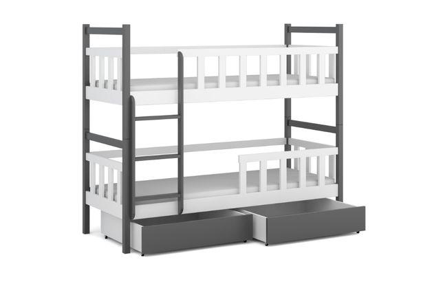 Sosnowe piętrowe łóżko młodzieżowe WOJTEK 9 + 2x materace