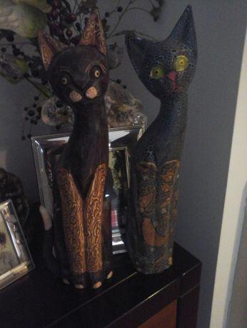 Gatinhos de madeira decoração