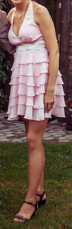 Sukienka pudrowy róż 38 M