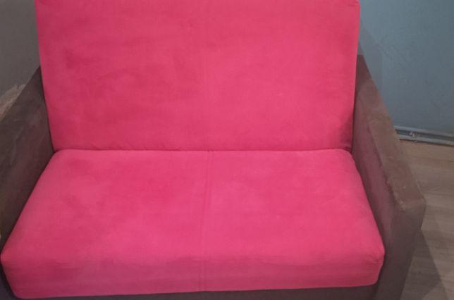 Łóżko rozkladane dzieciece różowe (dwójka)