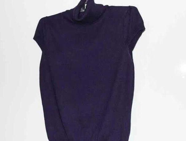 Fioletowy sweter z krotkim rękawem, S. Nowy.