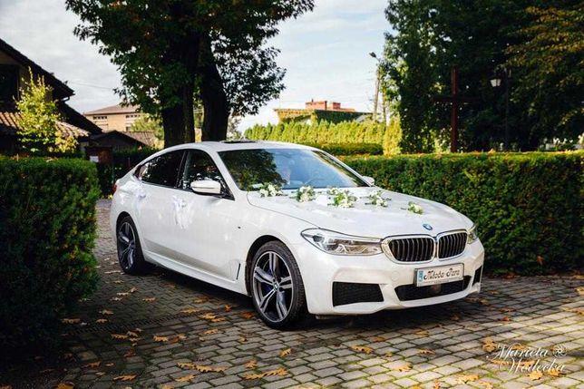 Samochód do ślubu BMW 6GT BIAŁA PERŁA M PAKIET