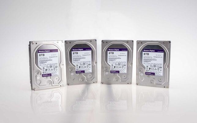 "Baixa de Preço: 4 x HDD 3.5"" Western Digital Purple 8TB 7200RPM 256MB"