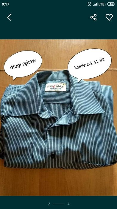 Koszula męska r m/l Gliwice - image 1