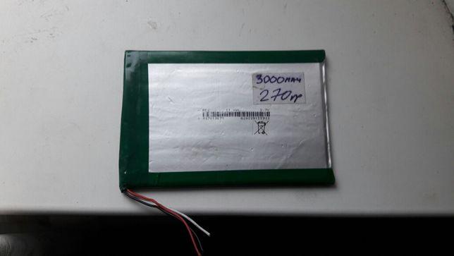 Аккумулятор, батарея для планшета li-ion 3000mah 4070100