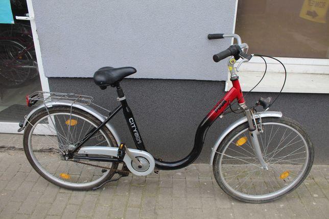 """Rower miejski łabędź OUTDOOR, 44 cm, 26"""", SRAM 3, Amor"""