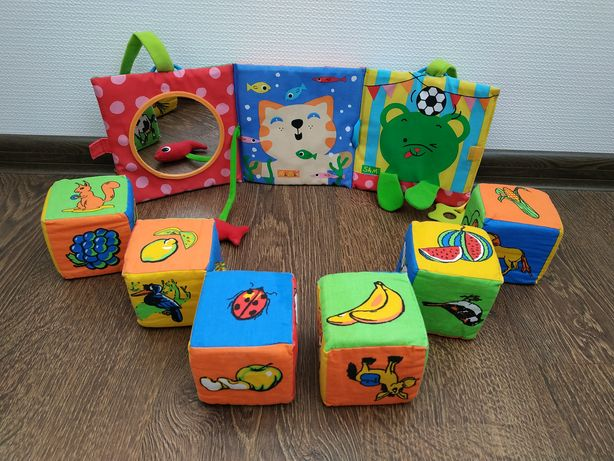 Набір, комплект м'яких іграшок, кубики, мобіль