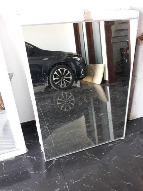Espelho wc 60x80/80x60 c/ moldura em inox escovado