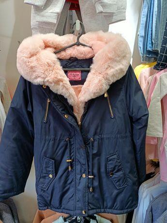 Куртка (пальто,парка) на дівчинку
