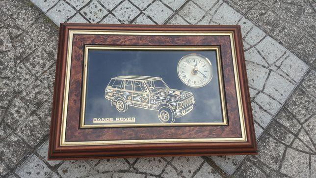 Quadro de Parede Range Rover c/ Relógio