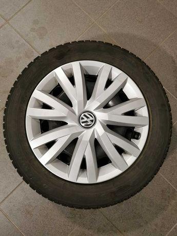 Koła zimowe 205x55x16 na felgach stalowych + kołpaki VW