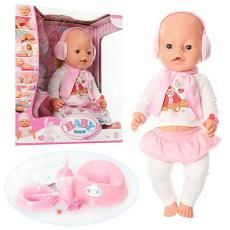 Куклу BABY born c аксессуарами и одежда для пупсиков, с ресничками и г