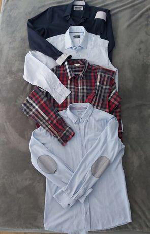 Koszule długi rękaw 4 szt. M/L