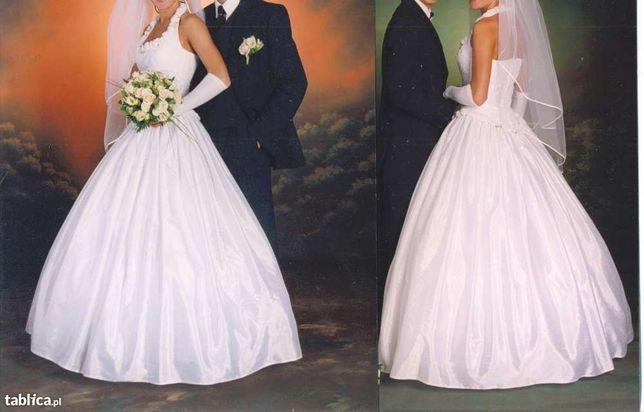 Suknia ślubna biała AGNES- bez trenu