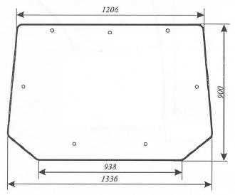 Szyba tylna Pronar 82A, 82SA, 82TSA, 1025A, 1221A, PB0527