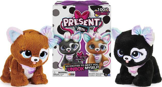 Интерактивная игрушка сюрприз Презент Петс Spin master Present Pets