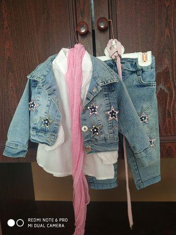 Продам джинсовий костюм для дівчинки