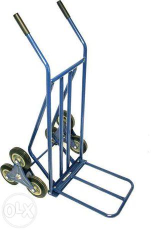Carrinho de armazém sobe-escadas com 6 rodas de borracha