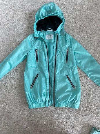 Zielononiebieska kurtka z podpinana bluza Coccodrillo rozmiar 128