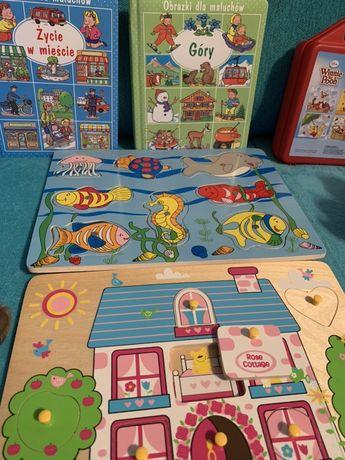 Zestaw zabawek rozne rodzaje plus ksiazki
