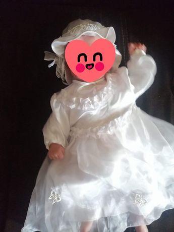 Ubranko do chrztu dla dziewczynki r68