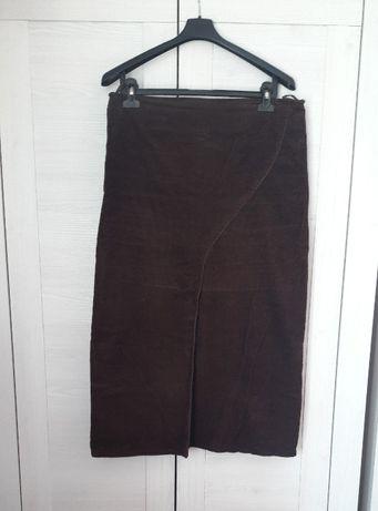 Spódnica sztruksowa brązowa 46