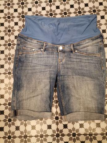Spodnie ciążowe 40 jeansy h&m mama krótkie szorty