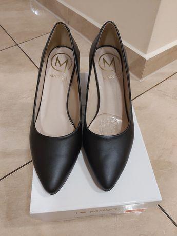 Buty na obcasie skórzane