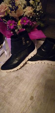 Трендовые ботинки кожа