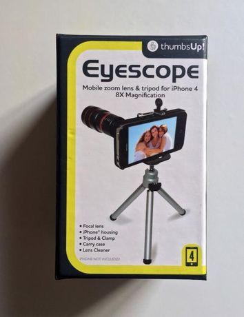 Eyescope, lente e tripé para iPhone