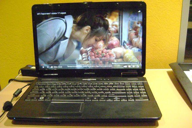 eMachines e525 полностью рабочий ноутбук недорого