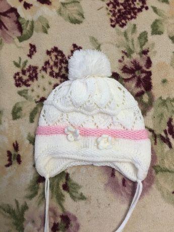 Тёплые шапки от 1 года до 2лет