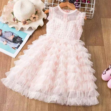 нарядное платье 3-7 лет плаття дитяче детское 4 года 5 6 выпускной 120