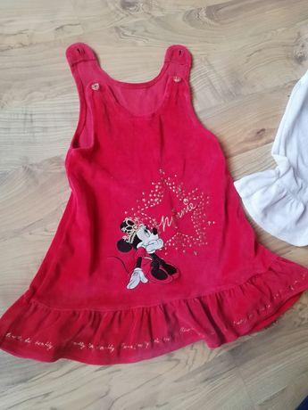 Sukienki z Myszką Minnie r80-86, 12-18mc