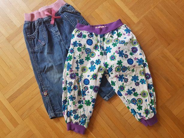 PAKA Spodnie spodenki jeans szarawary 12-18 mcy 80 - 86 cm