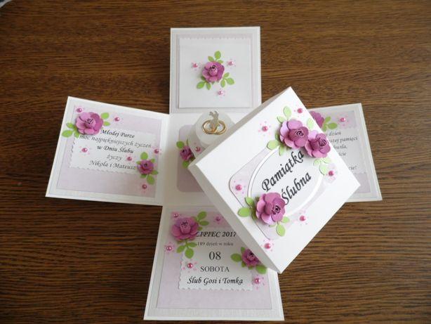 Ślub - exploding box, idealny prezent, pamiątka z okazji Ślubu