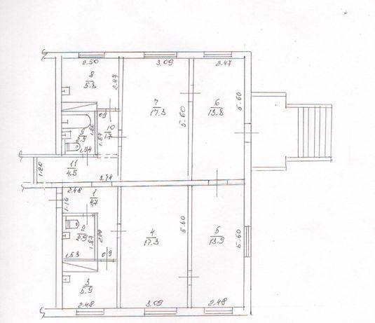 Квартира 91кв.м 1 этаж в самом центре Покров (Орджоникидзе)