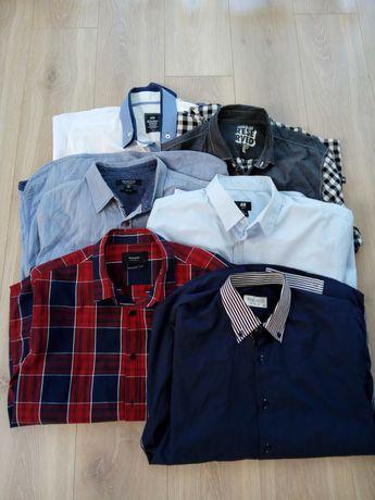 Koszule męskie,długi rękaw r.XL 6szt