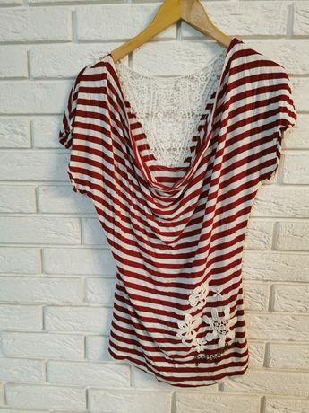 Nowy t-shirt bluzka na krótki rękaw Desigual 40 L