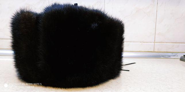 Норковая мужская шапка - ушанка