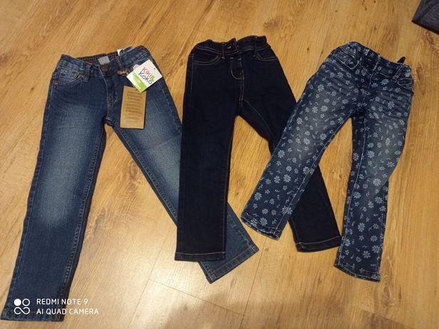 3 pary jeansow dla dziewczynki