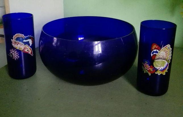 Duża misa i 2 szklanki