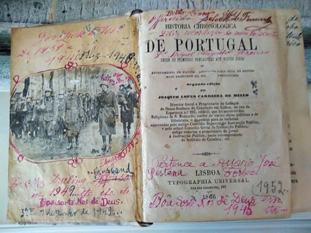 Livro Antigo- História chronologica DE PORTUGAL desde os primeiros...