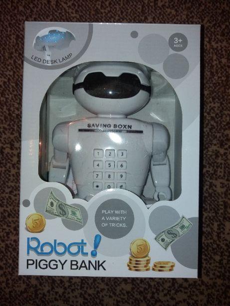 Копилка сейф Robot Piggy Bank, настольная лампа